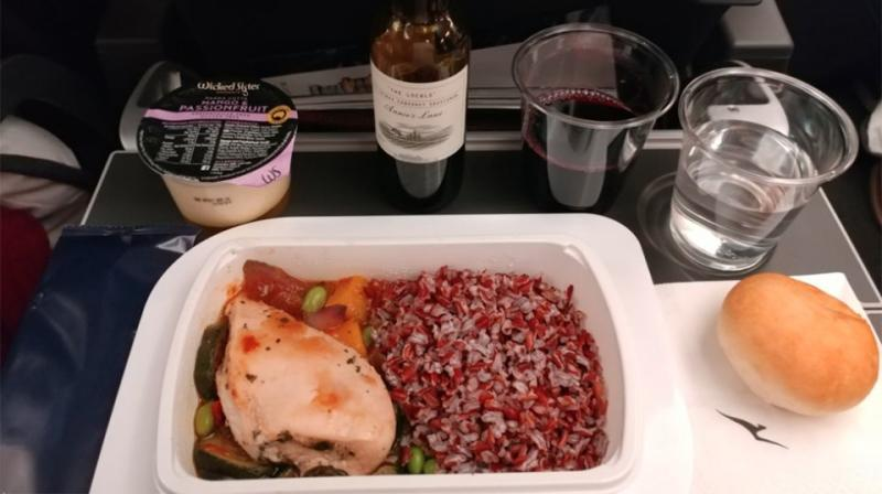 Passengers raved about the specially designed meals. Source: Twitter/Wayne Kwong