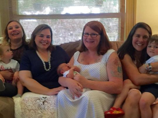 Lovely Four Moms, Three Kids: This Denver Baby Shower Is A Joyous Example Of How  The Definition Of Motherhood Has Evolved. (Photo: 9News Denver)