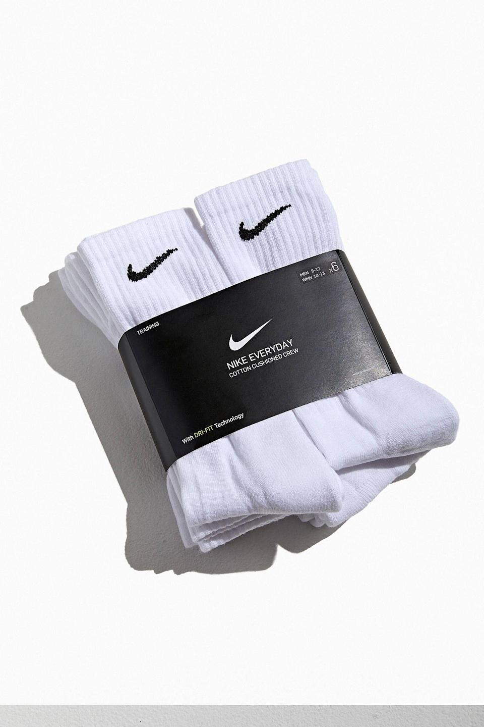 "<p><strong>Nike</strong></p><p>urbanoutfitters.com</p><p><strong>$20.00</strong></p><p><a href=""https://go.redirectingat.com?id=74968X1596630&url=https%3A%2F%2Fwww.urbanoutfitters.com%2Fshop%2Fnike-everyday-cushioned-crew-sock-6-pack2&sref=https%3A%2F%2Fwww.prevention.com%2Flife%2Fg29507400%2Funique-gifts-for-boyfriends%2F"" rel=""nofollow noopener"" target=""_blank"" data-ylk=""slk:Shop Now"" class=""link rapid-noclick-resp"">Shop Now</a></p><p>Pretty much every man owns Nike socks, meaning pretty much every man needs more. This multipack should last him until next year, when you can gift him another—it's the circle of life. </p>"