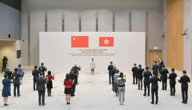 A crackdown by authorities has seen Hong Kong's civil service now required to swear an oath of loyalty (AFP/Handout)
