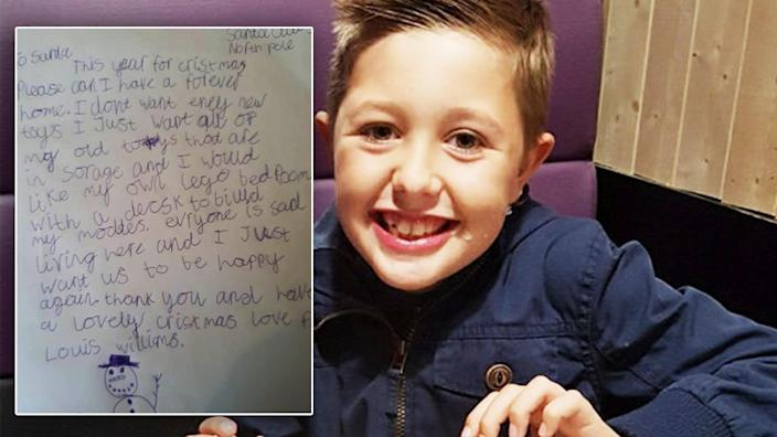 Homeless boy, 9, asked for a home forever in tear-jerking