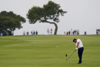 Bryson DeChambeau hits from the sixth fairway during the second round of the U.S. Open Golf Championship, Friday, June 18, 2021, at Torrey Pines Golf Course in San Diego. (AP Photo/Gregory Bull)