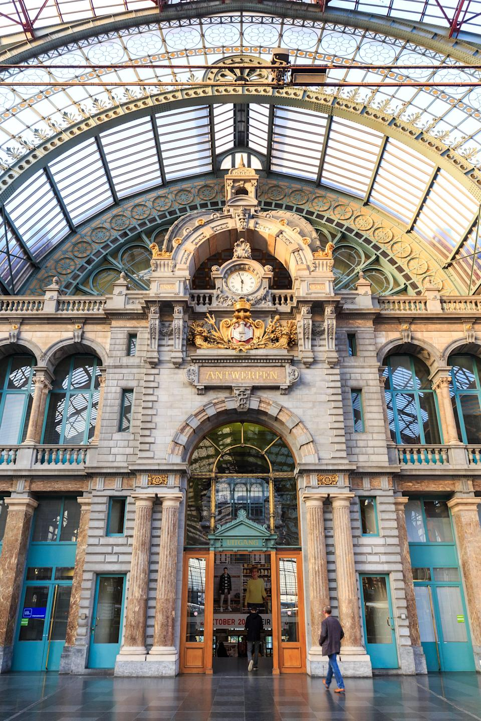 Antwerp's 116-year-old central train hall has withstood a lot, including World War II bombings and a resulting restoration in the 1980s to fix structural damage. But through it all, the steel and glass structure of the light-filled train hall—and the nearly 250-foot-high grand dome at the entrance—have served as the central hub for high-speed and intercity train service. Be sure to check out the equally extravagant architecture of the station's cafe.