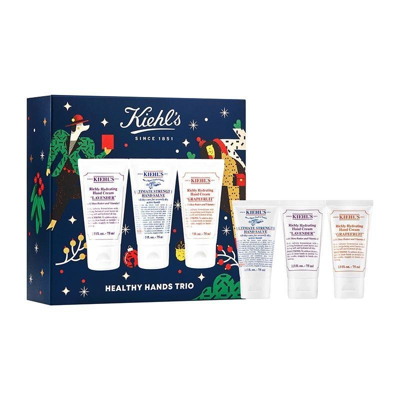 "This festive batch of rich hand creams will keep each of their favorite handbags locked and loaded. $35, Kiehl's. <a href=""https://shop-links.co/1721342305238180121"" rel=""nofollow noopener"" target=""_blank"" data-ylk=""slk:Get it now!"" class=""link rapid-noclick-resp"">Get it now!</a>"