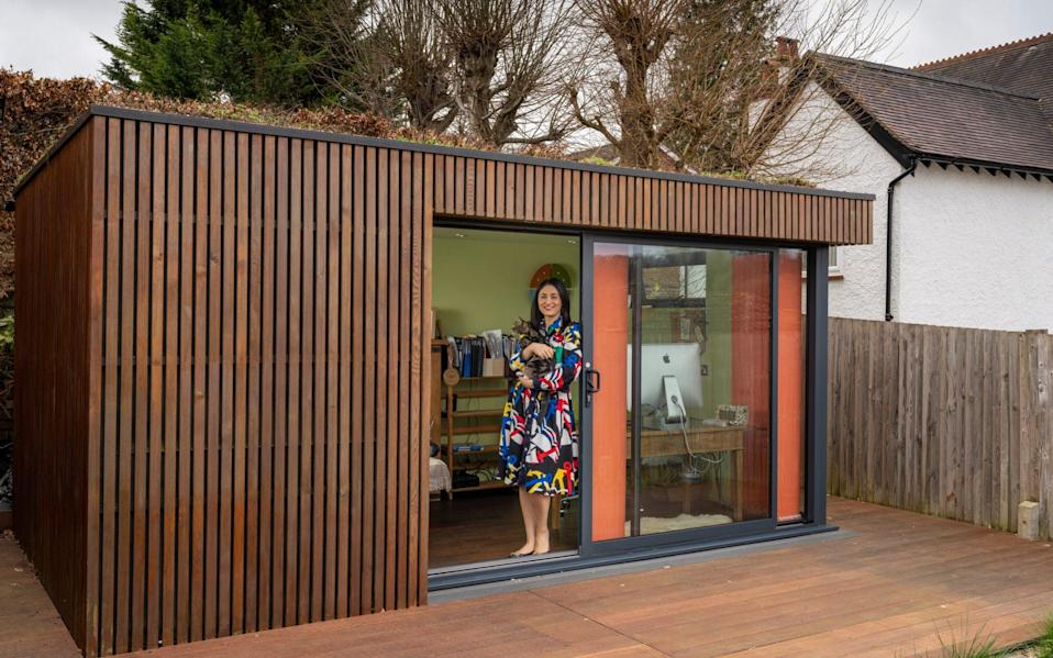 Rachel Ogden in her garden room: 'It's the best thing I could have done' - Andrew Crowley