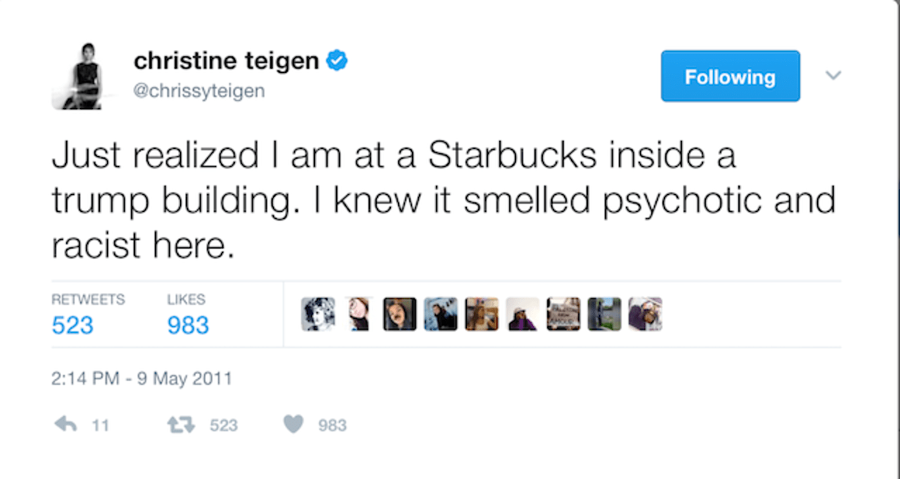 Teigen and President Trump have been the opposite of BFFs for years now.