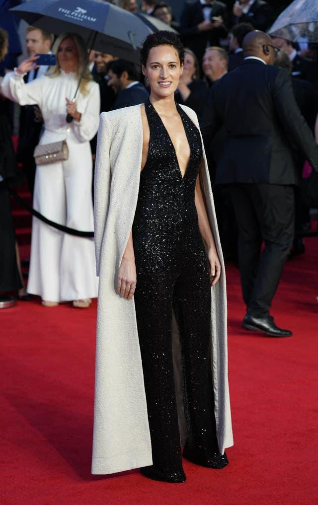 Phoebe Waller-Bridge attending the world premiere of No Time To Die at the Royal Albert Hall in London