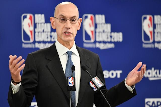 "NBA Commissioner Adam Silver said Thursday that older coaches may not be allowed to coach from the bench when play resumes in order to ""protect them"" from the coronavirus. (Kazuhiro Nogi/AFP/Getty Images)"