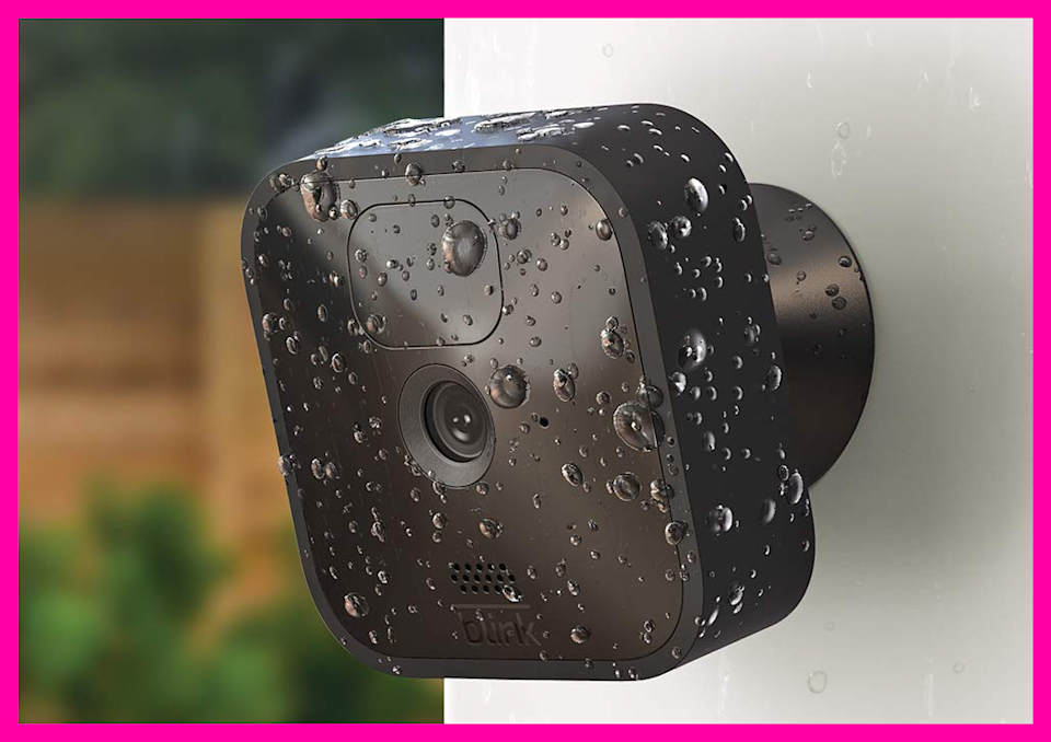 A few raindrops can't keep your Blink security camera from doing its duty. (Photo: QVC)