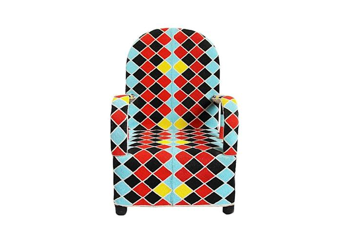 """<p><strong>MIX Furniture</strong></p><p>designkollective.com</p><p><a href=""""https://designkollective.com/stores/mixfurniture/products/42194"""" rel=""""nofollow noopener"""" target=""""_blank"""" data-ylk=""""slk:Shop Now"""" class=""""link rapid-noclick-resp"""">Shop Now</a></p><p>Stunningly intricate in design, these armchairs, native to the Yoruba tribes of Western Africa, are covered in a pattern created entirely from beads. Originally designed for ceremonial purposes, the chairs can comprise over 100,000 beads, each hand-applied to the armchair. </p>"""