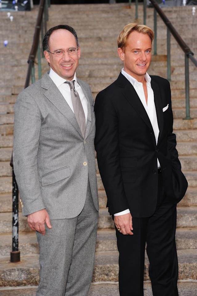 NEW YORK, NY - APRIL 17:  Andrew Saffir and Daniel Benedict attend the 2012 Tribeca Film Festival at the State Supreme Courthouse on April 17, 2012 in New York City.  (Photo by Jamie McCarthy/Getty Images)