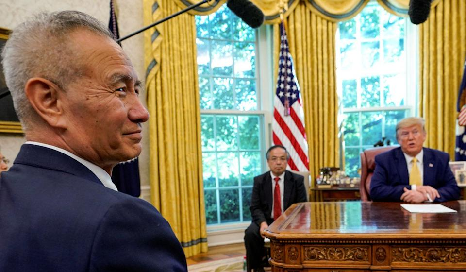 Chinese Vice-Premier Liu He ended his Washington trip with a meeting with US President Donald Trump at the White House on Friday. Photo: Reuters