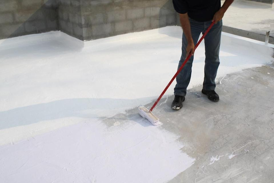 """If you have a flat roof, regular maintenance is key if you want to avoid costly repairs in the future. """"You can exponentially increase the roof life by applying a reflective coating every five years,"""" explains Armstrong, who notes that doing so can also keep your home cooler, thus lowering your electric bills in the summer."""