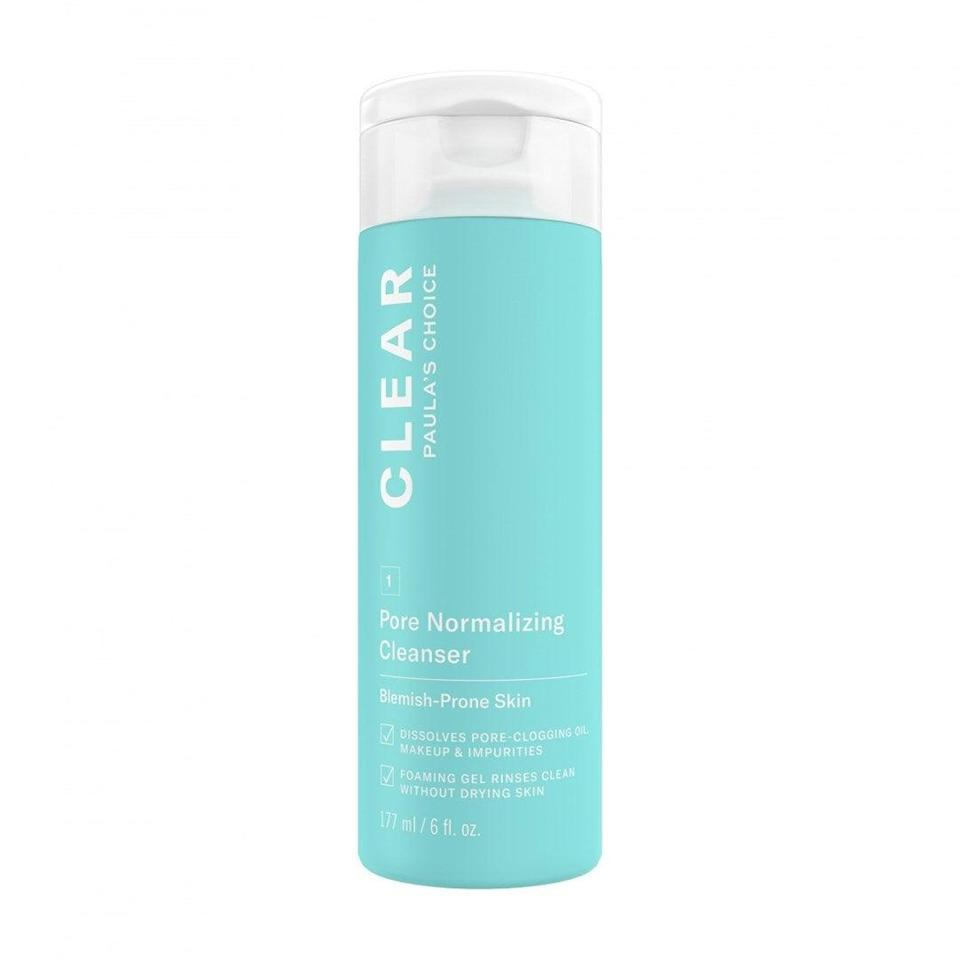 "<h2>Paula's Choice Pore Normalizing Cleanser</h2><br>The word ""gentle"" typically doesn't come to mind when you think about fighting acne, but this one manages to do the job while still being kind to your skin, thanks to a small dose of salicylic acid. Dr. King says that the acid penetrates pores and effectively removes sebum and oil, resulting in fewer breakouts. <br><br><strong>Paula's Choice</strong> Paula's Choice Pore Normalizing Cleanser, $, available at <a href=""https://go.skimresources.com/?id=30283X879131&url=https%3A%2F%2Fwww.paulaschoice.com%2Fclear-pore-normalizing-cleanser%2F600-6002.html%3Futm_medium%3Dcpc_shopping_nonbrand%26utm_source%3Dgoogle%26utm_campaign%3Dusnonbrandpla%26utm_adgroup%3D6002%26utm_term%3D6002%26p%3DREVITALIZE%26gclid%3DCj0KCQiA0fr_BRDaARIsAABw4Etf-U-ZLu6b4kjlP0CwJfbkqp0s2nxU_MTapVKw-v8SAjumnFtbS2saAlaaEALw_wcB%26gclsrc%3Daw.ds"" rel=""nofollow noopener"" target=""_blank"" data-ylk=""slk:Paula's Choice"" class=""link rapid-noclick-resp"">Paula's Choice</a>"