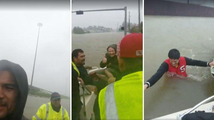 Images from one of several live videos posted to a Facebook page belonging to one of the men whose rescue efforts ended in tragedy on Monday.