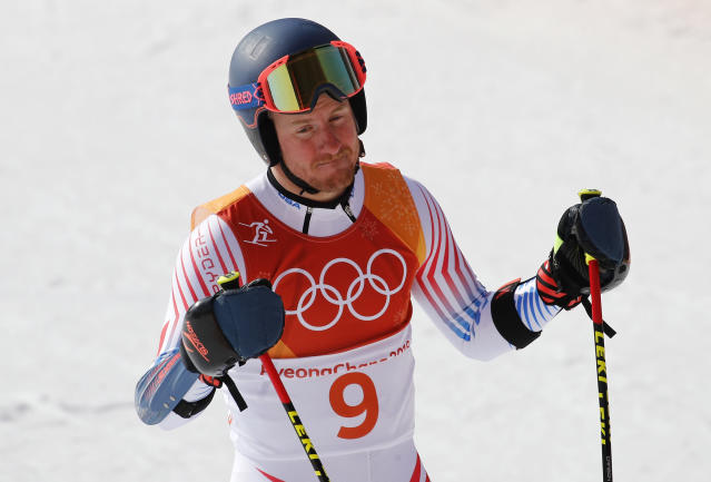 Ted Ligety finished 15th in the giant slalom on Sunday in PyeongChang. (Associated Press)