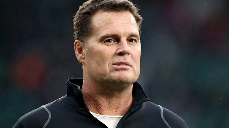 Rassie Erasmus is happy not to have to worry about Israel Folau when South Africa face the Wallabies. (Photo by Adam Davy/PA Images via Getty Images)