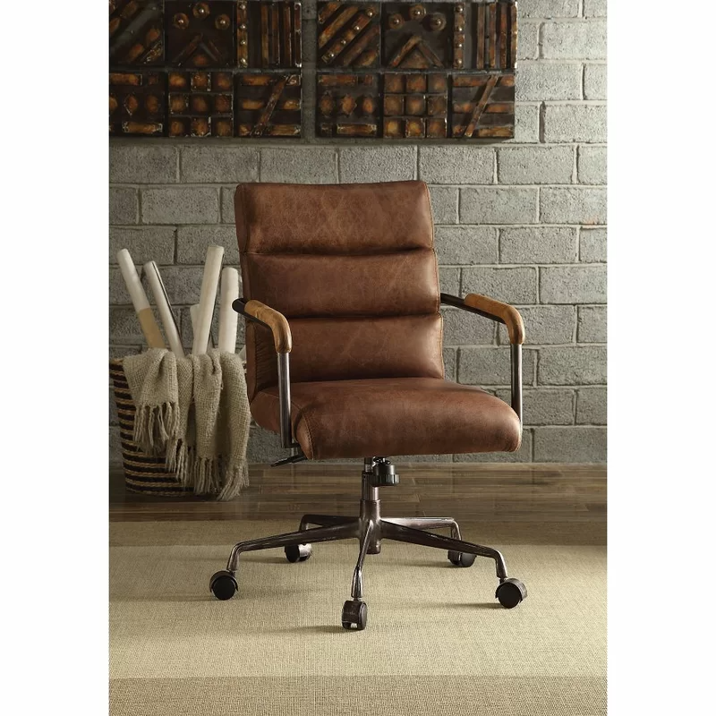 """<h2>Industrial Lodge Decatur Genuine Leather Task Chair</h2><br><strong>Best For: Executive Style</strong><br>Make a statement with this substantial distressed leather chair that features a high back and metal frame armrests.<br><br><strong>The Hype: </strong>4.8 out of 5 stars and 6 reviews on <a href=""""https://www.wayfair.com/furniture/pdp/industrial-lodge-home-decatur-genuine-leather-task-chair-w001663448.html"""" rel=""""nofollow noopener"""" target=""""_blank"""" data-ylk=""""slk:Wayfair"""" class=""""link rapid-noclick-resp"""">Wayfair</a><br><br><strong>Comfy Butts Say: </strong>""""Absolutely love it. Super comfortable and great style. I use it as my everyday office chair.""""<br><br><strong>Industrial Lodge Home</strong> Decatur Genuine Leather Task Chair, $, available at <a href=""""https://go.skimresources.com/?id=30283X879131&url=https%3A%2F%2Fwww.wayfair.com%2Ffurniture%2Fpdp%2Findustrial-lodge-home-decatur-genuine-leather-task-chair-w001663448.html"""" rel=""""nofollow noopener"""" target=""""_blank"""" data-ylk=""""slk:Wayfair"""" class=""""link rapid-noclick-resp"""">Wayfair</a>"""