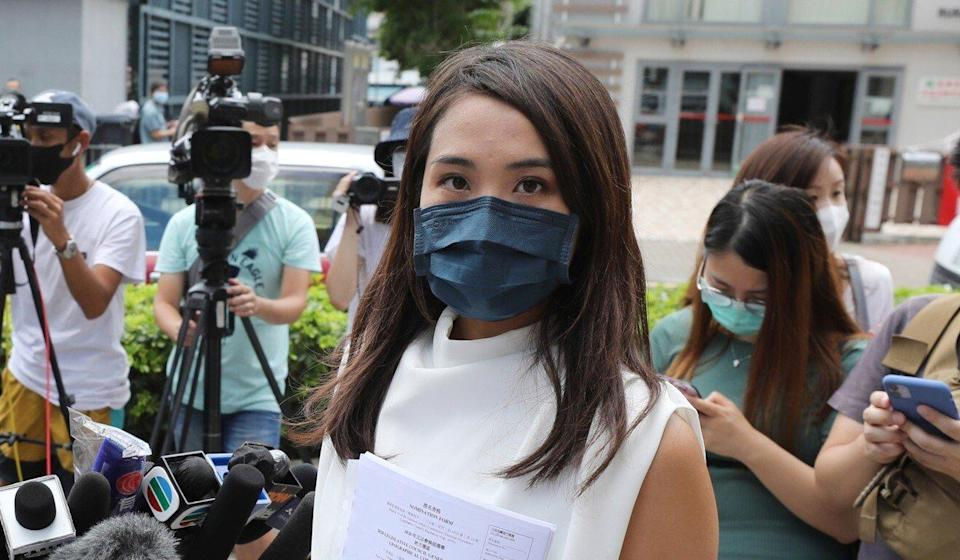 Gwyneth Ho is currently in custody awaiting trial on national security charges stemming from an unofficial opposition primary. Photo: May Tse