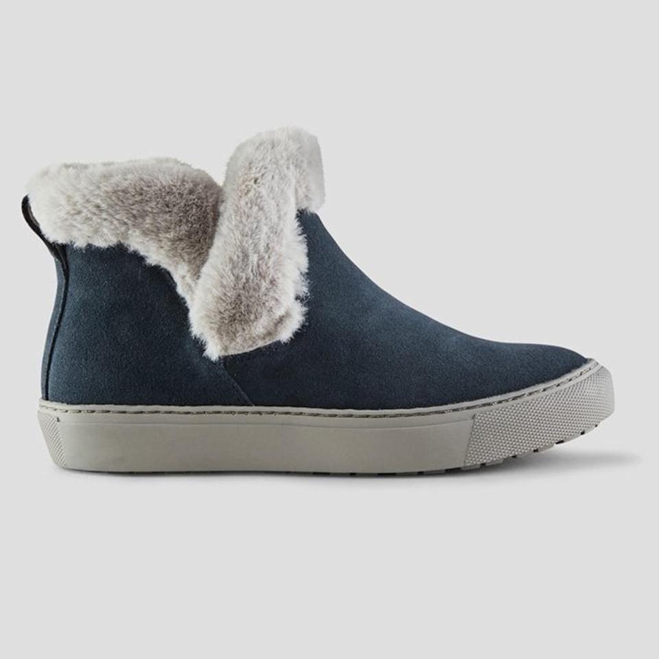 """<p>A sporty boot with the ease and comfort of a sneaker</p> <p><strong>Buy It!</strong> <a href=""""https://www.cougarshoes.com/product/duffy-suede-winter-sneaker/pewter/"""" rel=""""nofollow noopener"""" target=""""_blank"""" data-ylk=""""slk:&quot;Duffy&quot; Boot, $100; cougarshoes.com"""" class=""""link rapid-noclick-resp"""">""""Duffy"""" Boot, $100; cougarshoes.com</a></p>"""