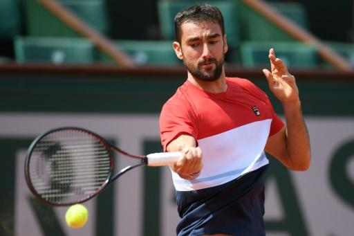 No problems: Croatia's Marin Cilic on his way to victory over Poland's Hubert Hurkacz on Thursday