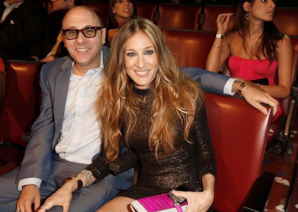 Sarah Jessica Parker and Willie Garson at the MTV Movie Awards in Los Angeles in 2008 (AP)