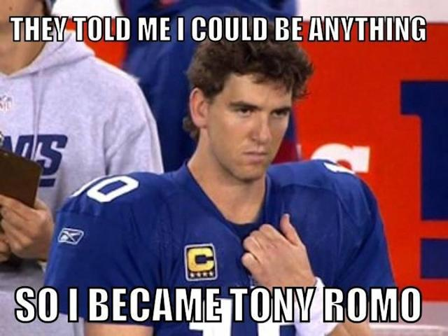 Who has had the better career, Tony Romo or Eli Manning? (gamedayr.com)