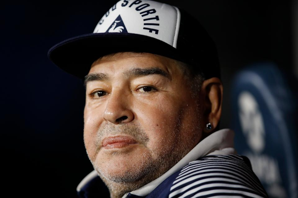 Maradona was struck down at the start of the month by ill healthAP