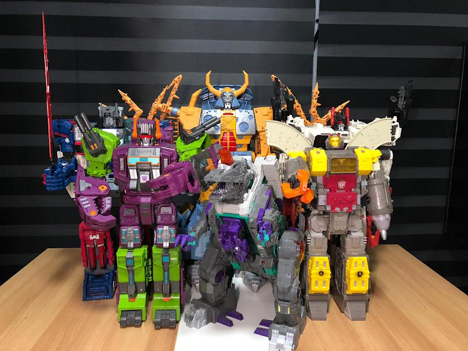 Unicron and the Titans.
