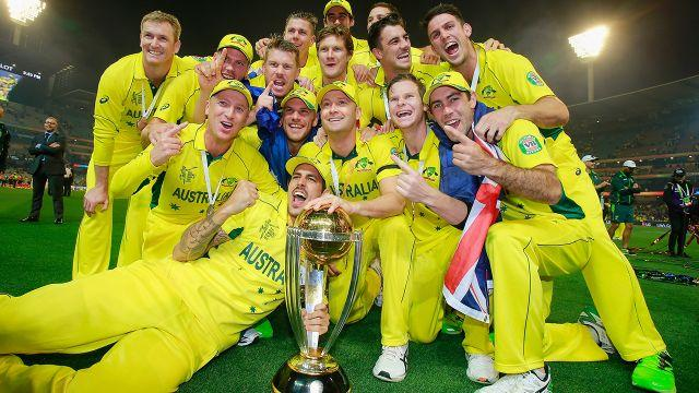 The boys and the trophy. Image: Getty