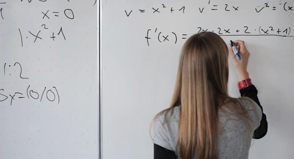 St. Georgen, Germany, a student of the 8th Class in math class
