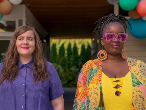 Aidy Bryant and Lolly Adefope in 'Shrill' (Hulu)