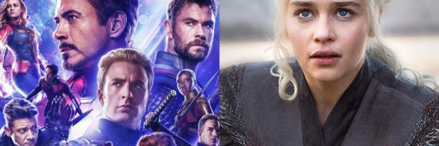 promotional photos of avengers: endgame cast and daenerys from game of thrones
