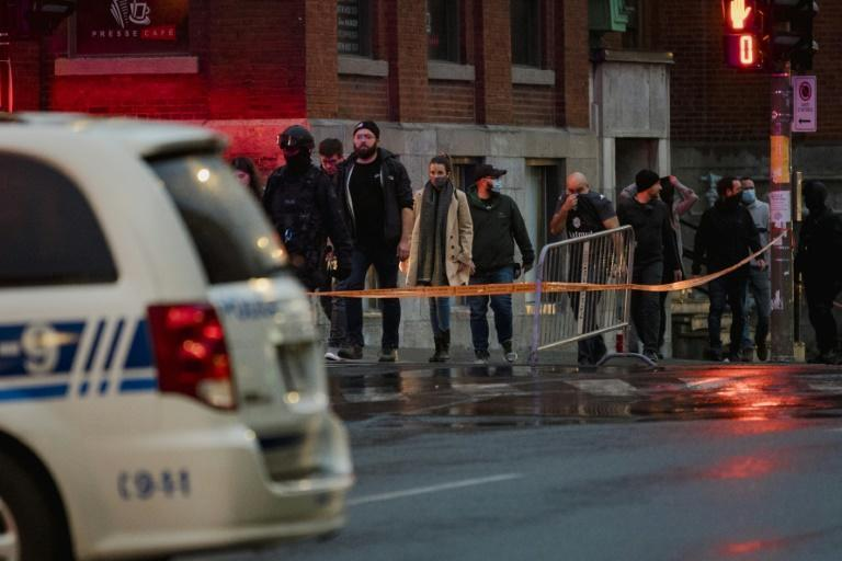 People are evacuated from the Ubisoft office in Montreal