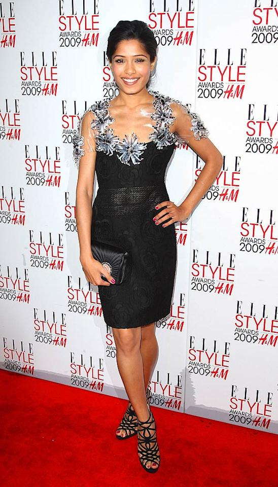 """Slumdog"" star Freida Pinto stole the spotlight in a fabulous Chanel frock and strappy heels. Gareth Cattermole/<a href=""http://www.gettyimages.com/"" target=""new"">GettyImages.com</a> - February 9, 2009"