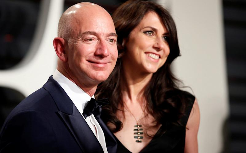 Jeff Bezos was reportedly forced to announce his divorce ahead of a tell-all story - REUTERS