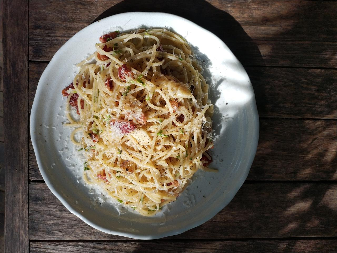 <p>According to experts, when you pop cooked pasta in the freezer you're compromising texture and flavour. In cold temperatures, moisture is a natural component which turns the leftovers into bloated, soggy, indiscernible noodles. </p>