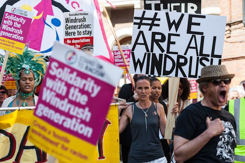 Hundreds of demonstrators in May 2018 march through central London to the Home Office in solidarity with the Windrush generation (Photo: Barcroft Media via Getty Images)