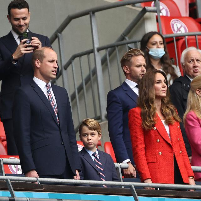 Prince William, Prince George, and Kate Middleton. - Credit: AP.