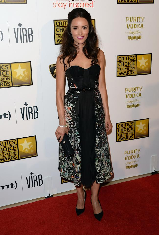 LOS ANGELES, CA - JUNE 10: Actress Abigail Spencer arrives at Broadcast Television Journalists Association's third annual Critics' Choice Television Awards at The Beverly Hilton Hotel on June 10, 2013 in Los Angeles, California. (Photo by Jason Merritt/Getty Images)