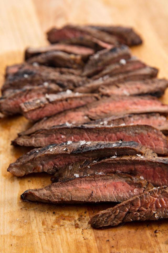 """<p>The marinade is 100% optional, but we promise you'll never regret it. All you need is 30 extra minutes.</p><p>Get the recipe from <a href=""""https://www.delish.com/cooking/recipe-ideas/recipes/a58238/easy-flank-steak-recipe-oven/"""" rel=""""nofollow noopener"""" target=""""_blank"""" data-ylk=""""slk:Delish"""" class=""""link rapid-noclick-resp"""">Delish</a>. </p>"""
