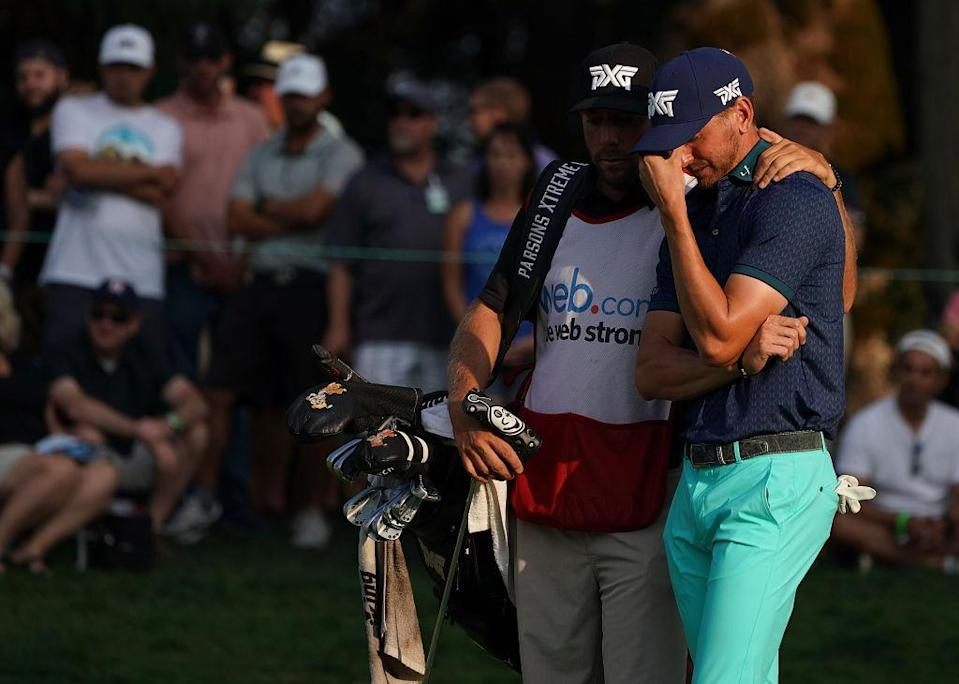 It was a heartbreaking day on the links for Kevin Dougherty. (Getty)