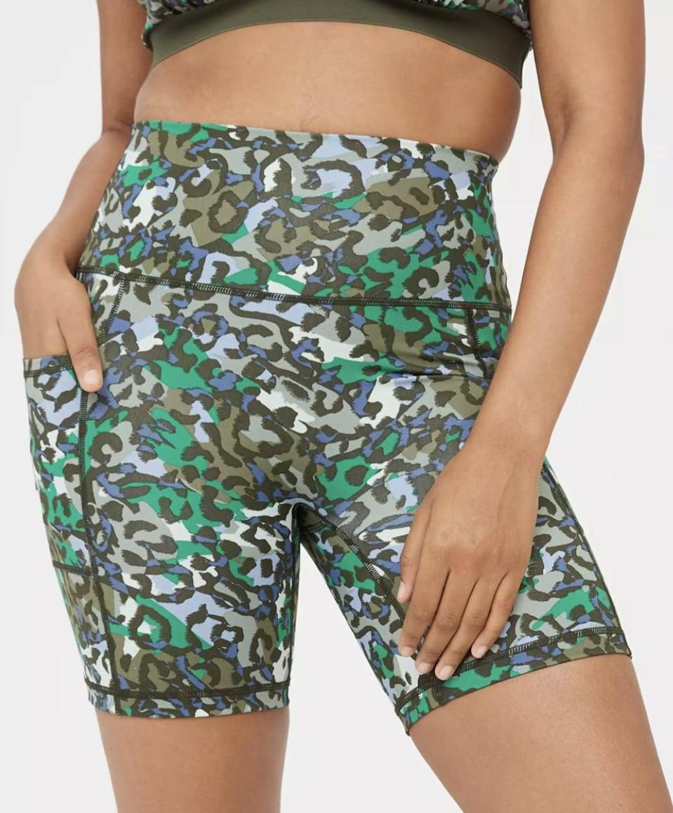 <p>Eighties fashion was all about maximalism - meaning prints, prints, and more prints. These <span>Aerie Offline Pocket Bike Shorts</span> ($35) have two different adorable leopard-print options - green or red. Pair them with the matching sports bra if you're into coordinated sets!</p>