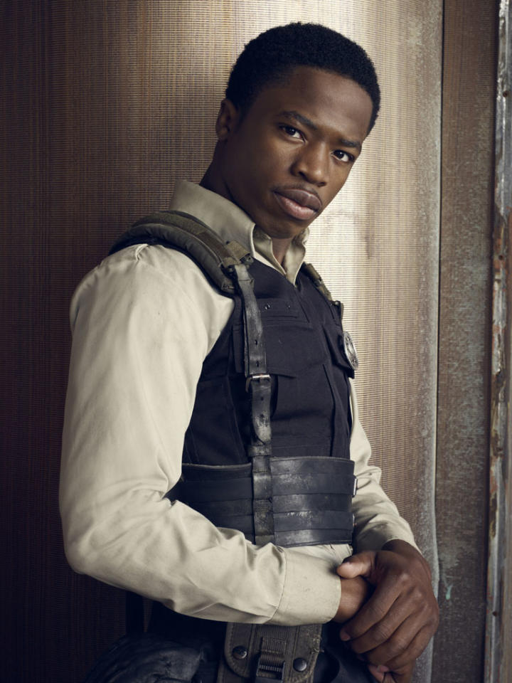 "Dewshane Williams as Tommy Lasalle on Syfy's ""Defiance."""