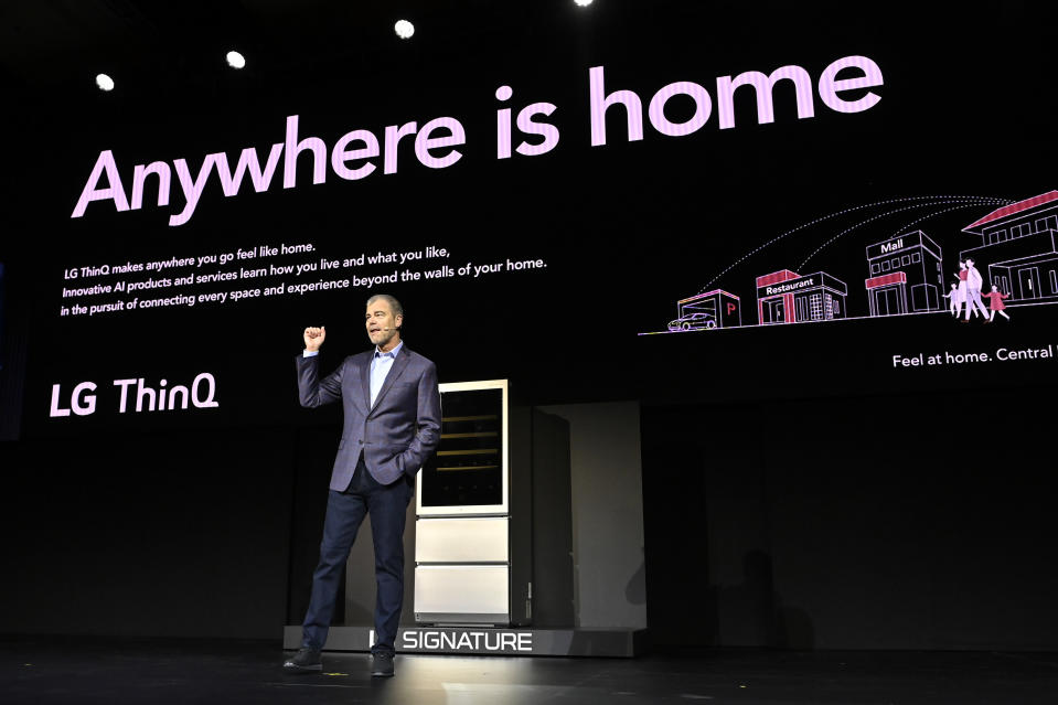 LAS VEGAS, NEVADA - JANUARY 06:  LG Electronics USA Senior Vice President of Marketing David VanderWaal speaks during an LG press event for CES 2020 at the Mandalay Bay Convention Center on January 6, 2020 in Las Vegas, Nevada. CES, the world's largest annual consumer technology trade show, runs January 7-10 and features about 4,500 exhibitors showing off their latest products and services to more than 170,000 attendees. (Photo by David Becker/Getty Images)