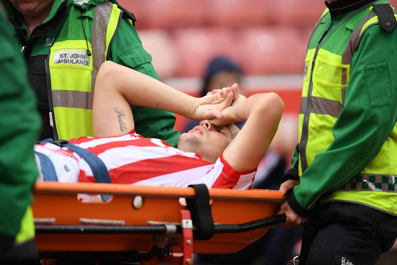 Ryan Shawcross suffered a gruesome ankle injury on Saturday morning, and had to be stretchered off the field during Stoke City's friendly against Leicester.