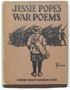 Book cover with a sketch of a soldier.