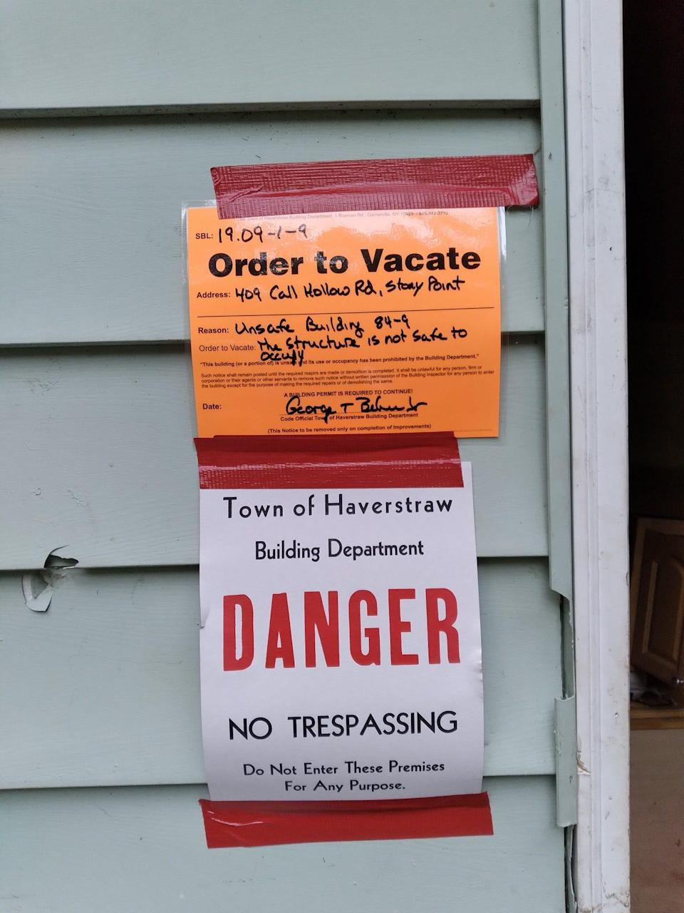 Jessica Rose of Haverstraw, New York, had to leave to house after it was deemed unsafe after Hurricane Ida.