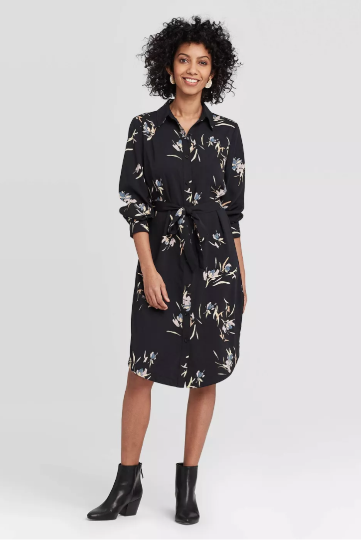 """<p><strong>A New Day</strong></p><p>target.com</p><p><strong>$17.09</strong></p><p><a href=""""https://www.target.com/p/women-s-long-sleeve-collared-shirtdress-a-new-day/-/A-78264092"""" rel=""""nofollow noopener"""" target=""""_blank"""" data-ylk=""""slk:shop It"""" class=""""link rapid-noclick-resp"""">shop It</a></p><p>Our most affordable option, this shirtdress is a perfect option if you are trying out the shape for the first time!</p>"""