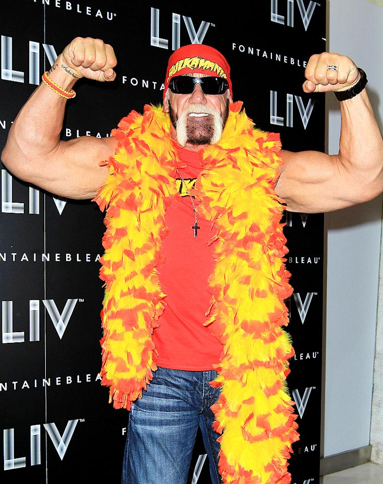 "<p class=""MsoNormal"" style="" "">It had been quite a while since Hulk Hogan and his family was in the news, and we weren't complaining. But the wrestler-turned-reality star came back in a major way in early October … when a 90-second clip from his sex tape was released! If the grainy footage, canopy bed, and Hulk answering the phone half-way through the video (his ringtone was daughter Brooke's song ""About Us"") wasn't bad enough, his partner was none other than the now-ex-wife, Heather Clem, of his best friend, Florida radio deejay Bubba the Love Sponge. Although the former couple denied leaking the tape to Gawker.com, Bubba later came clean, sort of, after Hulk threatened to sue him. ""It is my belief that Hulk is not involved, and has not ever been involved, in trying to release the video, or exploit it, or otherwise gain from the video's release in any way,"" Bubba said in an October 29 statement, adding that he was ""committed to helping Hulk and his attorneys find whoever is responsible for the release of the tape."" So far, they've come up with no one.</p>"